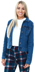 Veromoda Medium Blue Short Denim Jacket