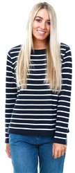 Vila Navy / White Stripe Knitted Top