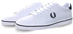 Fred Perry White Deuce Leather Lace Up Trainer