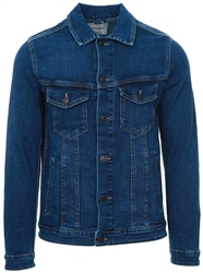 Blue Denim Comfort Fit Denim Jacket by Jack & Jones