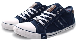 Mustang Dark Blue Low Top Lace Up Shoe