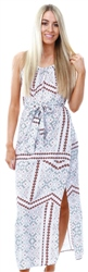 Veromoda Snow White Simply Easy Spilt Maxi Dress
