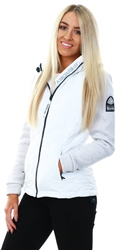 Superdry White Storm Quilted Hybrid Jacket