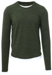 Brave Soul Khaki Long Sleeve Crew Neck Jumper