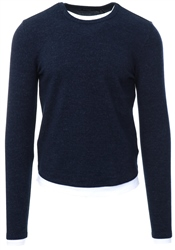 Brave Soul Navy Long Sleeve Crew Neck Jumper