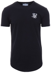 Siksilk Black Short Sleeve Gym Tee