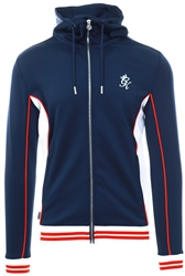 Gym King Navy Nights Tipped Track Top