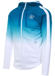 Siksilk Teal Athlete Zip Through Hoodie