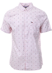Hilfiger Denim Fuchsia Purple Micro Pattern Shirt