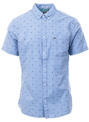 Tommy Jeans Limoges Micro Pattern Short Sleeve Shirt