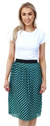 Only Night Sky/Green Printed Midi Skirt
