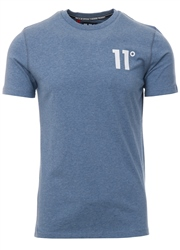 11degrees Sleet Marl Short Sleeve Core T-Shirt