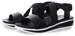 Dv8 Black Platform Slip On Sandal
