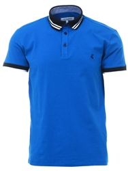 Ottomoda Blue Short Sleeve Polo T-Shirt