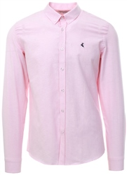 Ottomoda Pink Button Down Long Sleeve Oxford Shirt