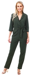Jdy Green Cammy Belted Jumpsuit