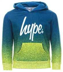 Hype Navy/ Lime Green Pullover Fade Hoodie