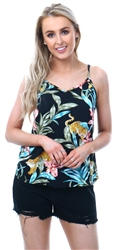 Only Black/Jungle Floral Print Cami