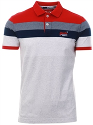Superdry Rich Red Miami Feeder Polo Shirt