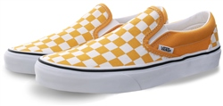 Vans Yolk Yellow Checkerboard Classic Slip-On Shoes