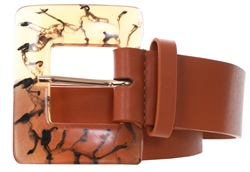 Impulse Brown Marble Buckle Belt