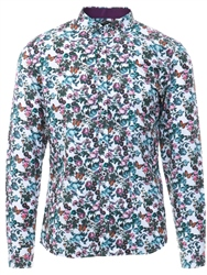 Alex & Turner Purple Floral Print Shirt