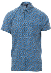Blue Pattern Short Sleeve Shirt by Broken Standard
