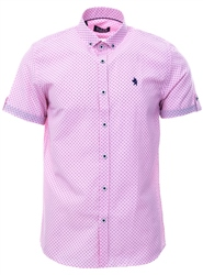 Alex & Turner Pink Pattern Short Sleeve Shirt