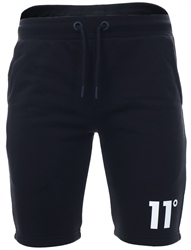 11degrees Black Core Sweat Shorts