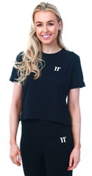 11degrees Black Core Cropped T-Shirt