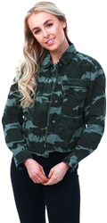 Superdry Camo Riley Cropped Rookie Jacket