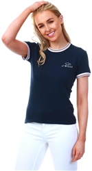 Jack Wills Navy Allaway Ringer T Shirt