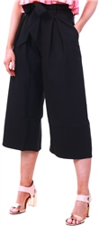 Missi Lond Black Culotte Belted Trousers