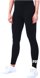 Cotton Black Essential Print Legging by Puma