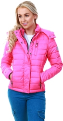 Superdry Pink Fuji Slim Double Zip Hooded Jacket