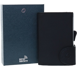 C Secure Black Single Wallet