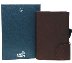 C Secure Brown Single Wallet