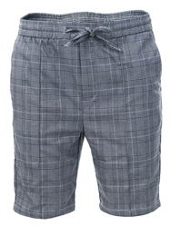 Kings Will Dream Grey/White Check Flick Tapered Fit Shorts