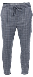 Kings Will Dream Grey Check Tapered Fit Flick Trousers