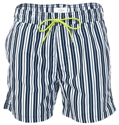 Threadbare Navy Brighton Stripe Short