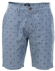 Threadbare Chambray Cottrill Pattern Short