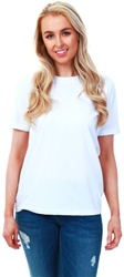 Pieces White Ria Plain Short Sleeve T-Shirt