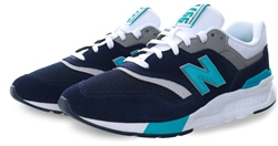 New Balance Navy 997h Lace Up Trainer