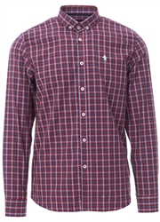 Alex & Turner Red Checked Button Down Shirt