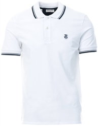 Selected White Short Sleeve Polo Shirt
