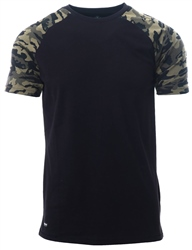 Threadbare Black Camo Short Sleeve T-Shirt