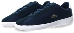Lacoste Navy Avance Synthetic And Suede Trainers
