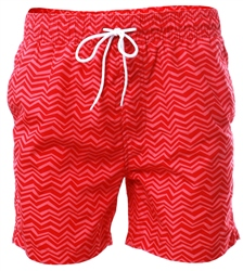 Threadbare Red Formby Swim Shorts