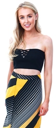 Brave Soul Black Bandeau Sleeveless Top