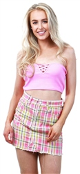 Brave Soul Flamingo Pink Bandeau Sleeveless Top
